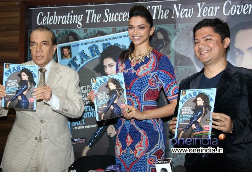 Deepika Padukone launches the Stardust magazine January issue Photos