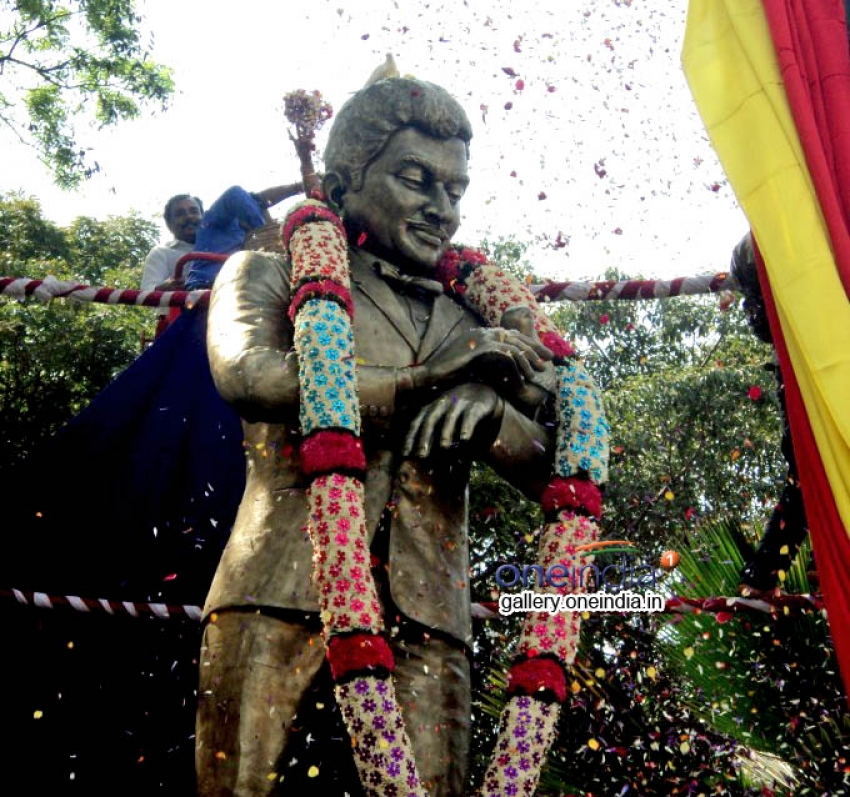 Dr Rajkumar's Statue Inaugurated in South End Circle, Bangalore Photos