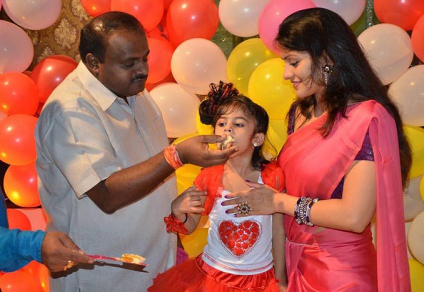 Radhika Kumaraswamy Daughter Shamika Birthday Bash Photos