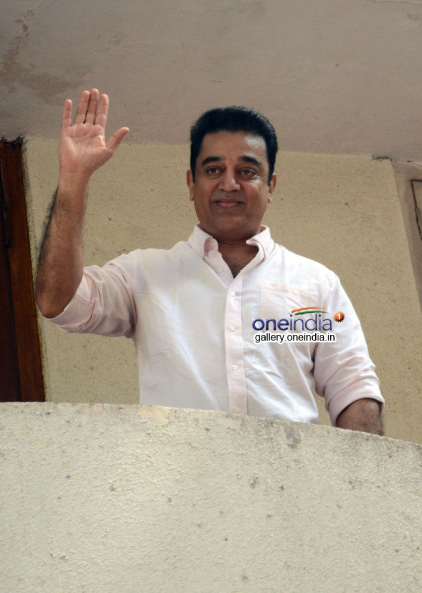 Kamal Haasan Press Meet regarding Padma Bhushan Award Photos