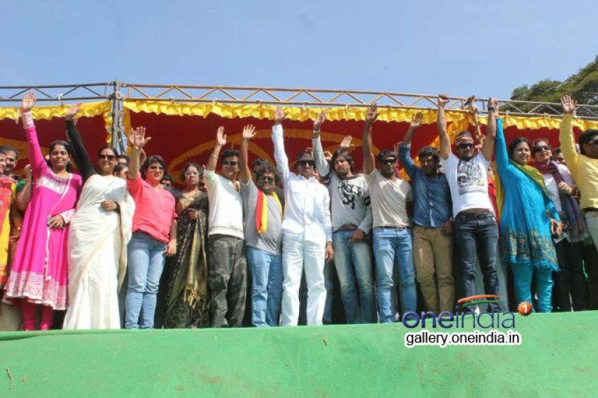 Kannada Film Industry Bundh against Dubbing Photos