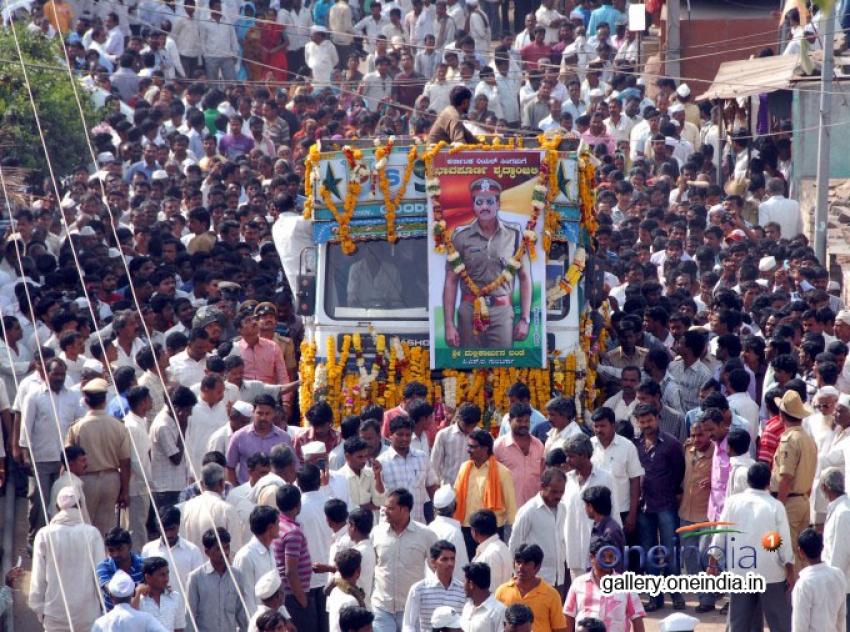 Karnataka PSI Mallikarjun Bande Funeral Photos
