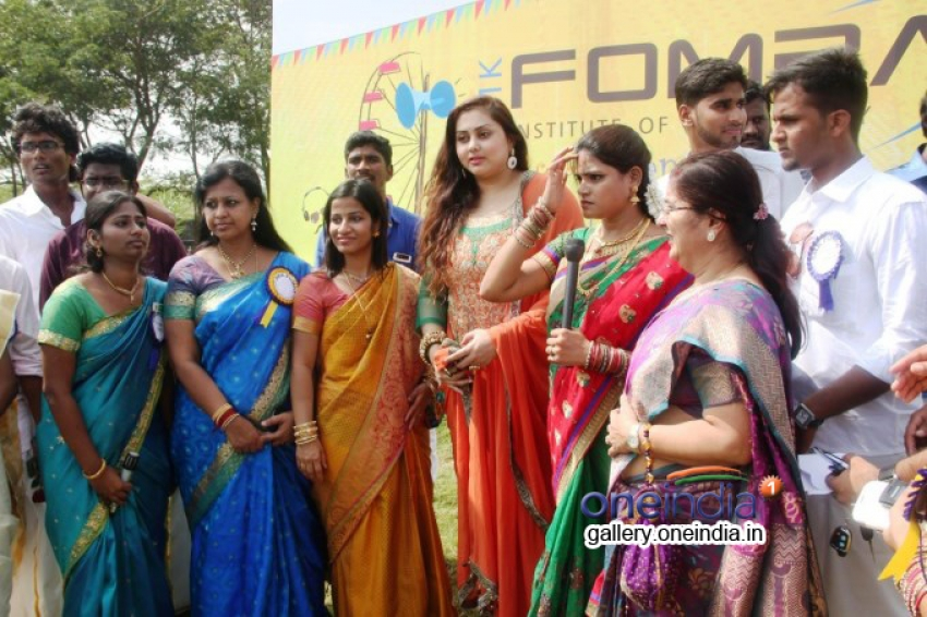 Namitha's Pongal celebration at SMK Fomra college Photos