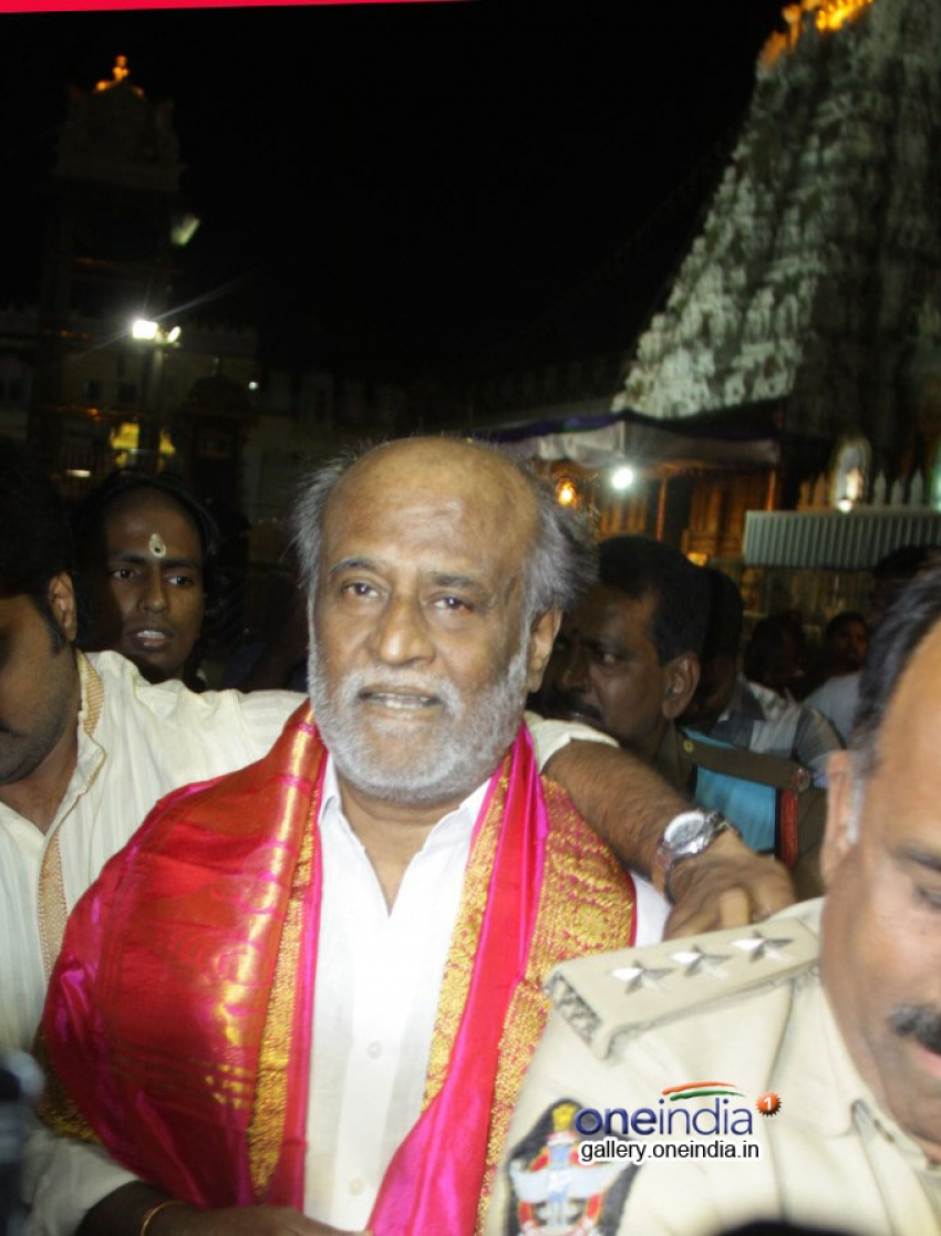 Rajinikanth Visits Thirupathi Photos