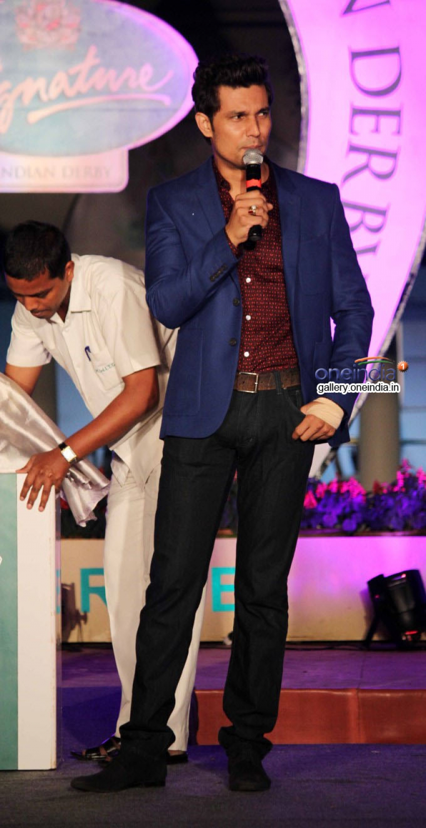 Randeep Hooda At Signature Derby Draw Photos