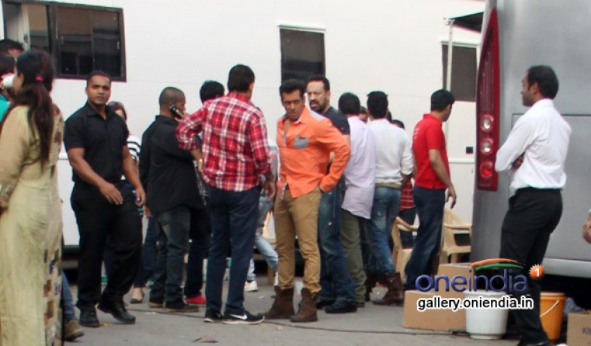 Salman Khan snapped during a photoshoot in various dresses Photos