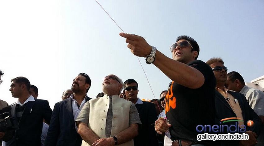 Salman Khan joins Narendra Modi for kite flying festival Photos