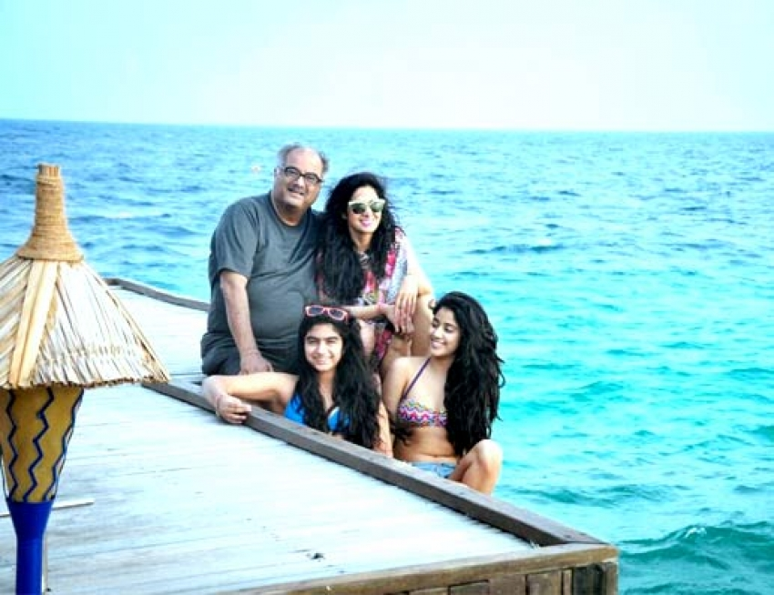 Sridevi New Year Family Vacation with her Gorgeous Daughters Photos