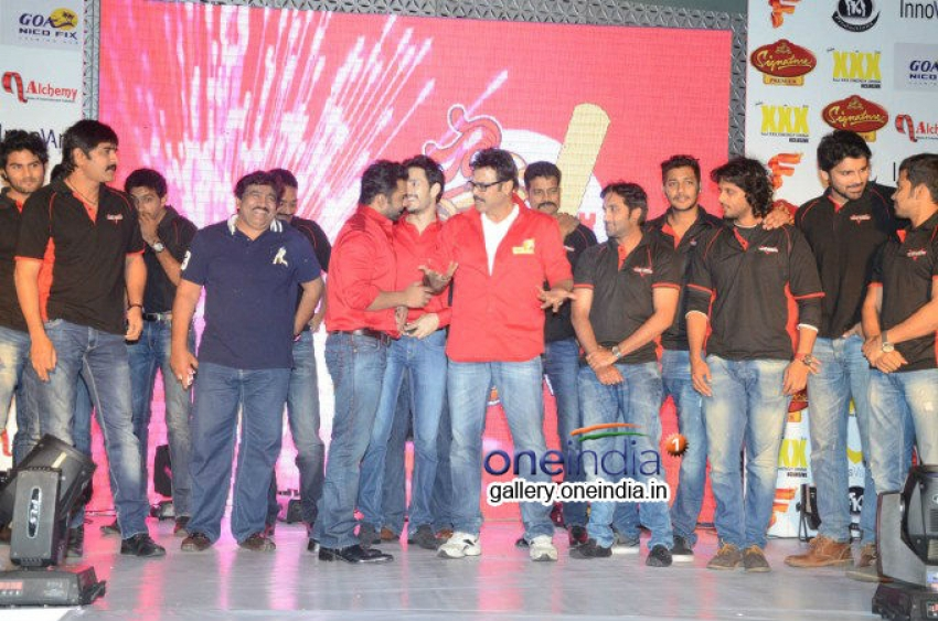 Telugu Warriors CCL Team Logo Launch Photos