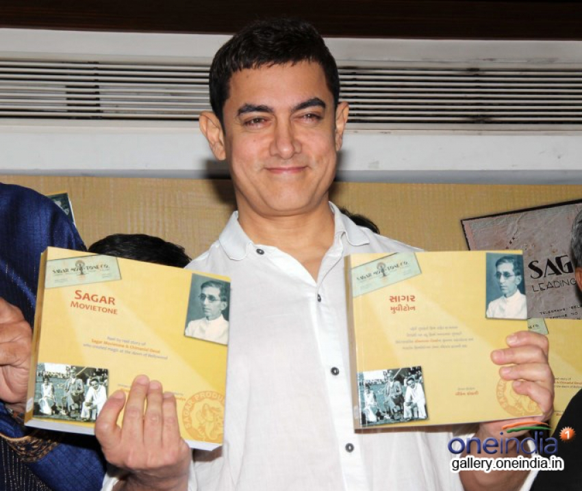 Aamir Khan launches book Sagar Movietone Photos