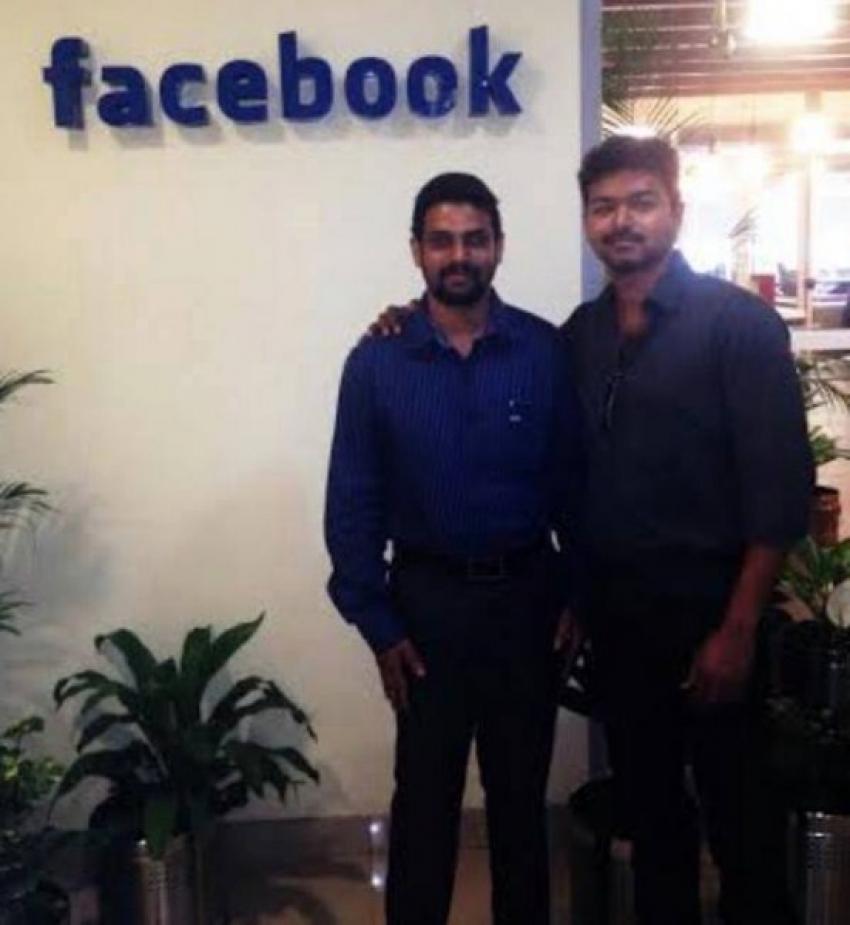 Actor Vijay Visits Facebook Photos