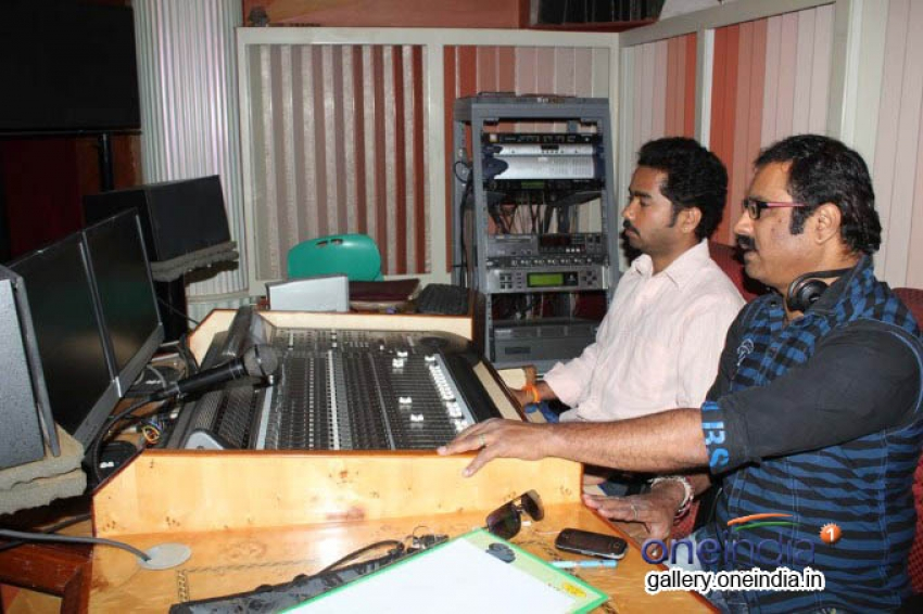 Arjun Janya Sings Song for the Movie ICE PICE Photos