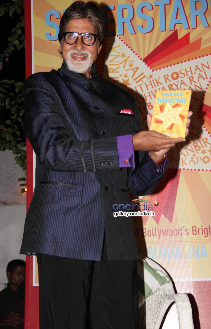Big B unveils Priyanka Sinha's book Supertraits of Superstars Photos