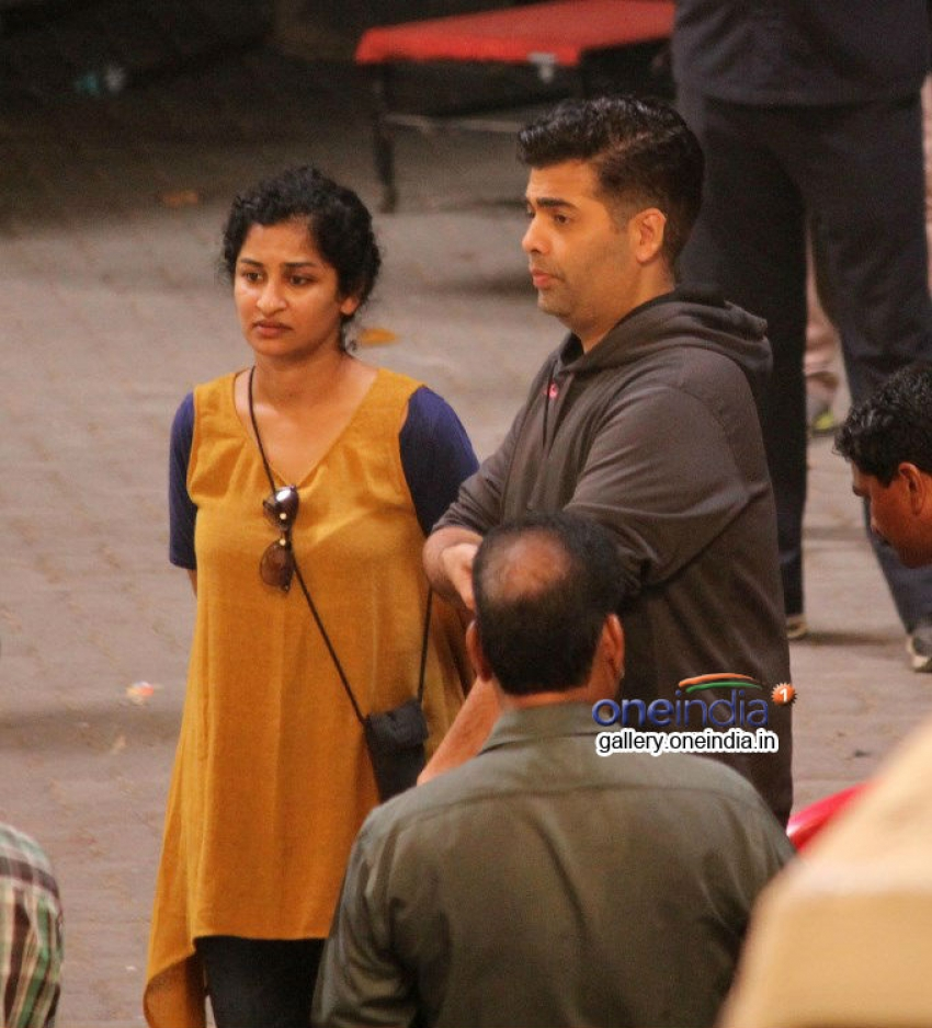 Dhanush, Akshara and Karan snapped shooting for R Balki's untitled film Photos