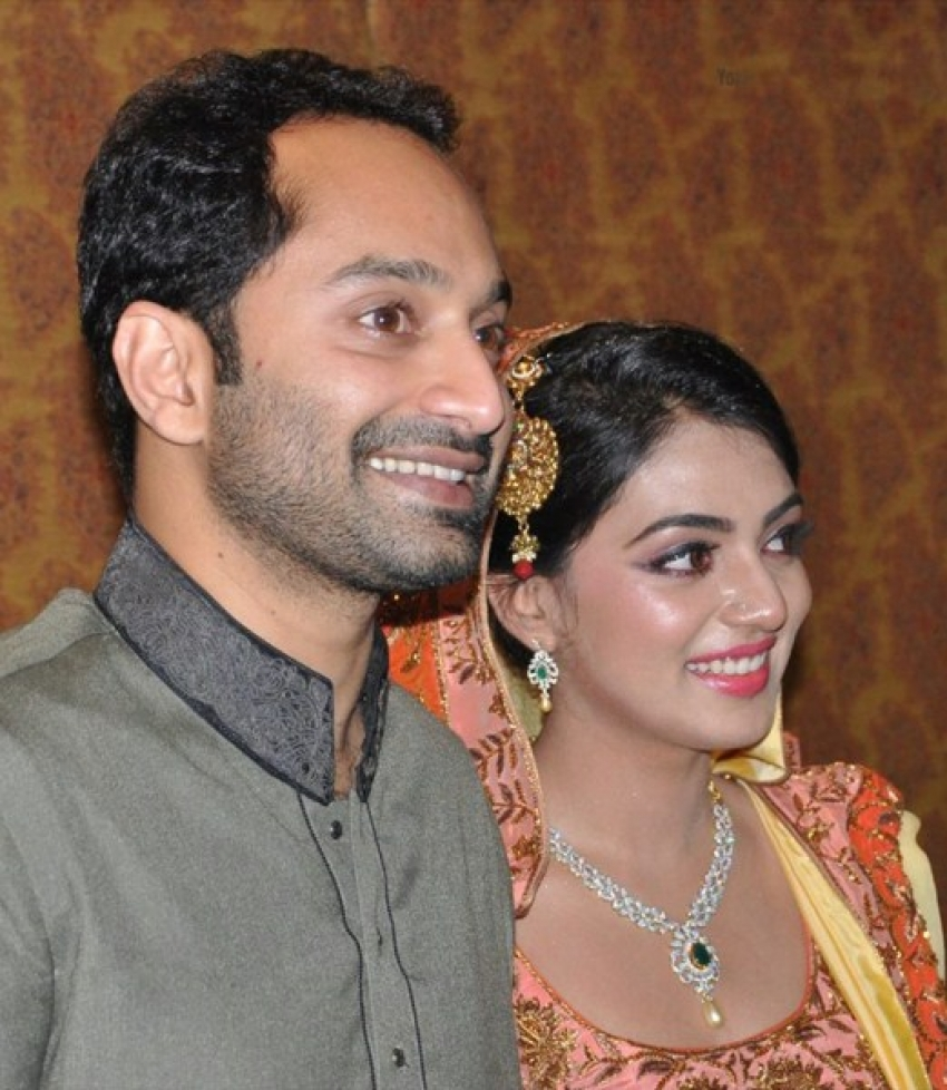 Fahad Fazil & Nazriya Nazim engagement Photos