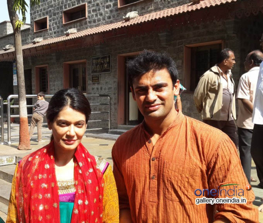 Sangram Singh and Payal Rohatgi visited Shirdi Photos
