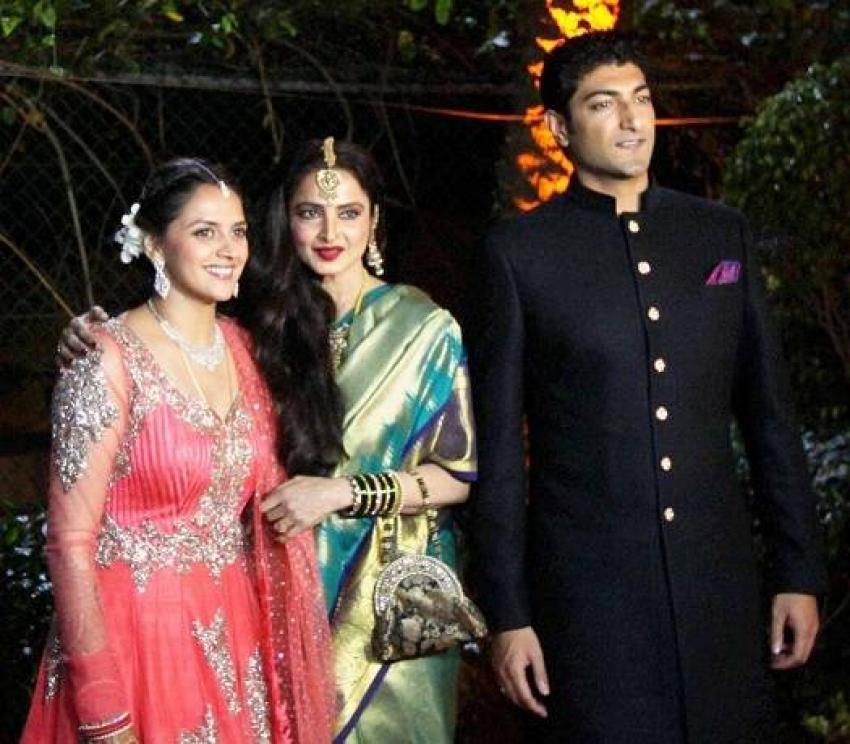 Ahana Deol And Vaibhav Vohras Wedding Reception Photos Filmibeat