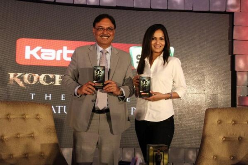 Soundarya Rajinikanth Launches Kochadaiiyaan Karbonn Mobiles Photos