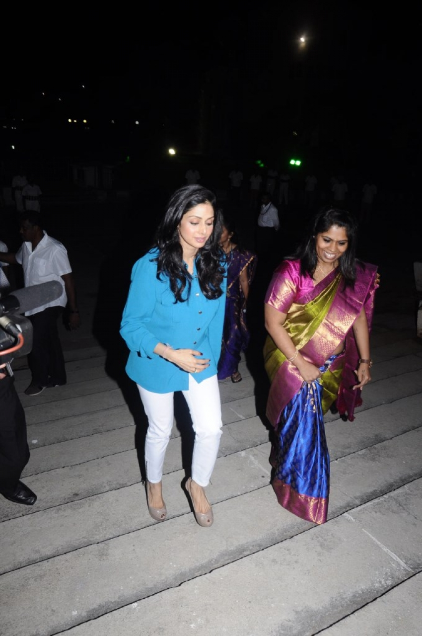 Sridevi Visits Sathyabama University Chennai Photos