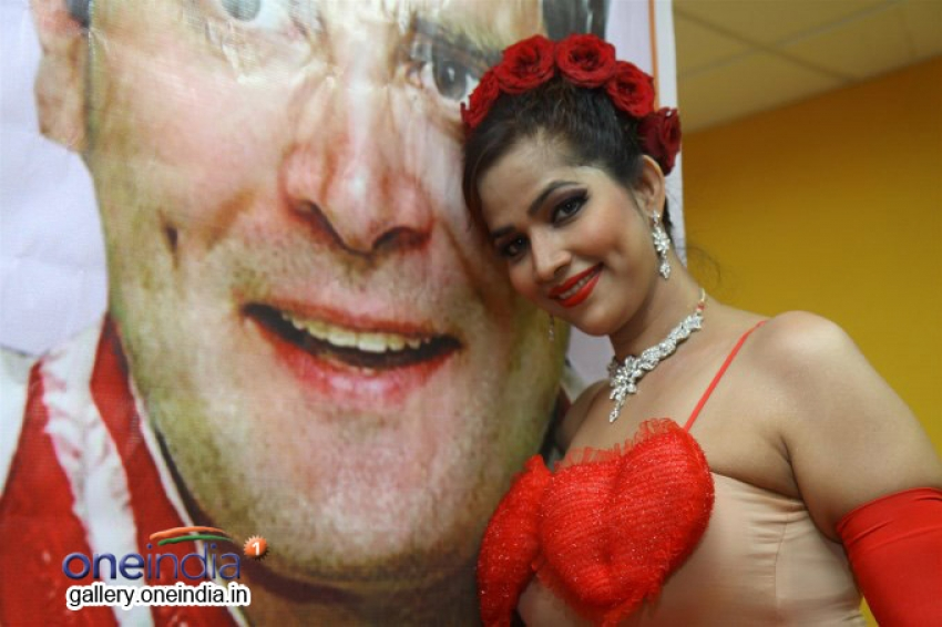 Tanisha Singh Valentine Day photoshoot for Rahul Gandhi Photos