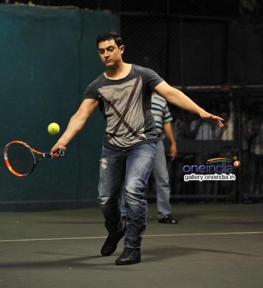 Aamir Khan attend All India Women's Open Tennis Tournament Photos