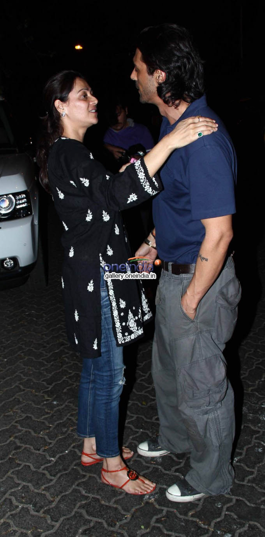 Arjun Rampal & Mehar Rampal at Wedding Anniversary Photos