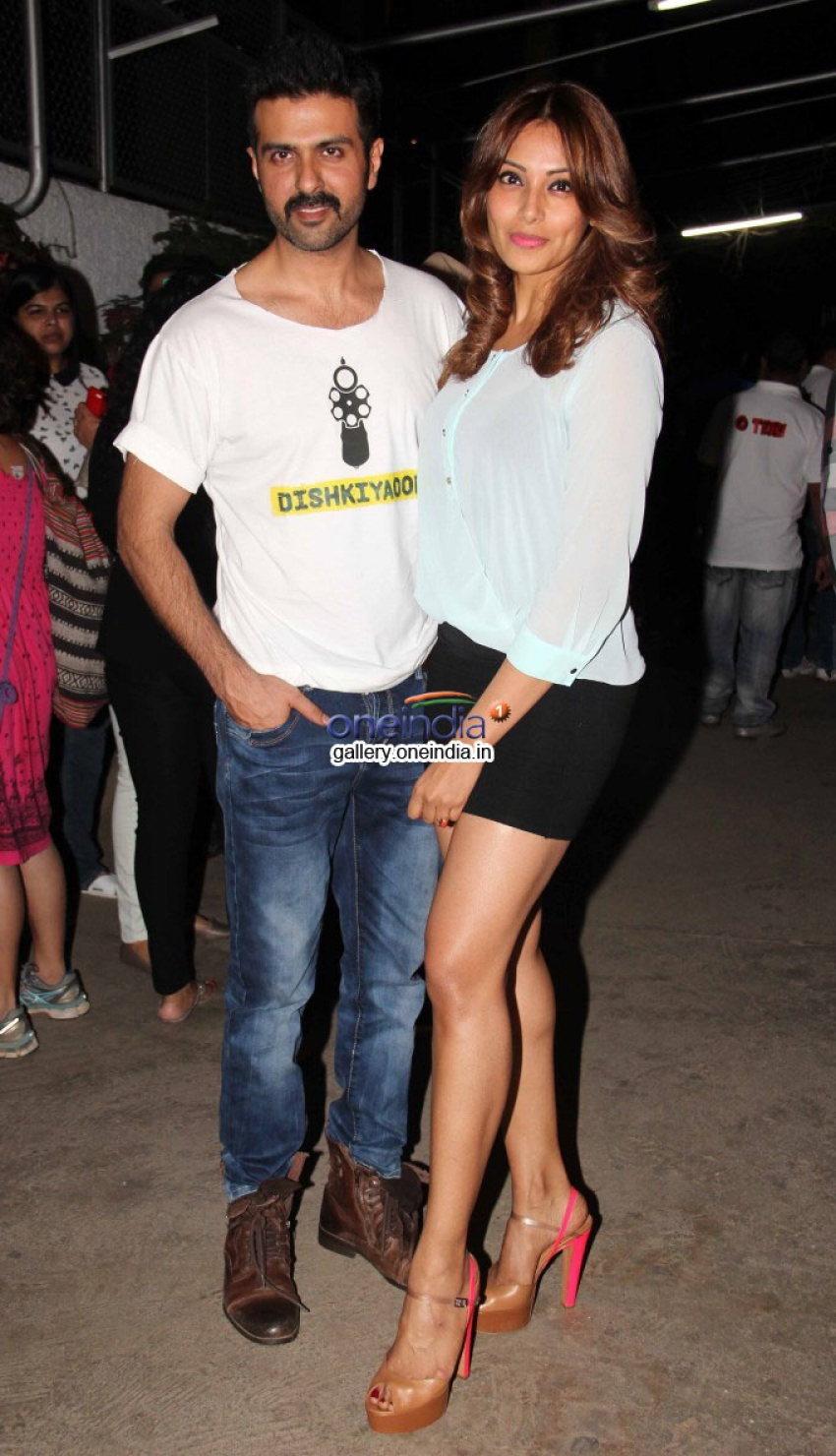 Harman Baweja and Bipasha Basu at Dishkiyaoon film screening Photos