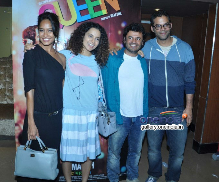 Kangna Ranaut and Lisa Haydon at Queen special screening Photos