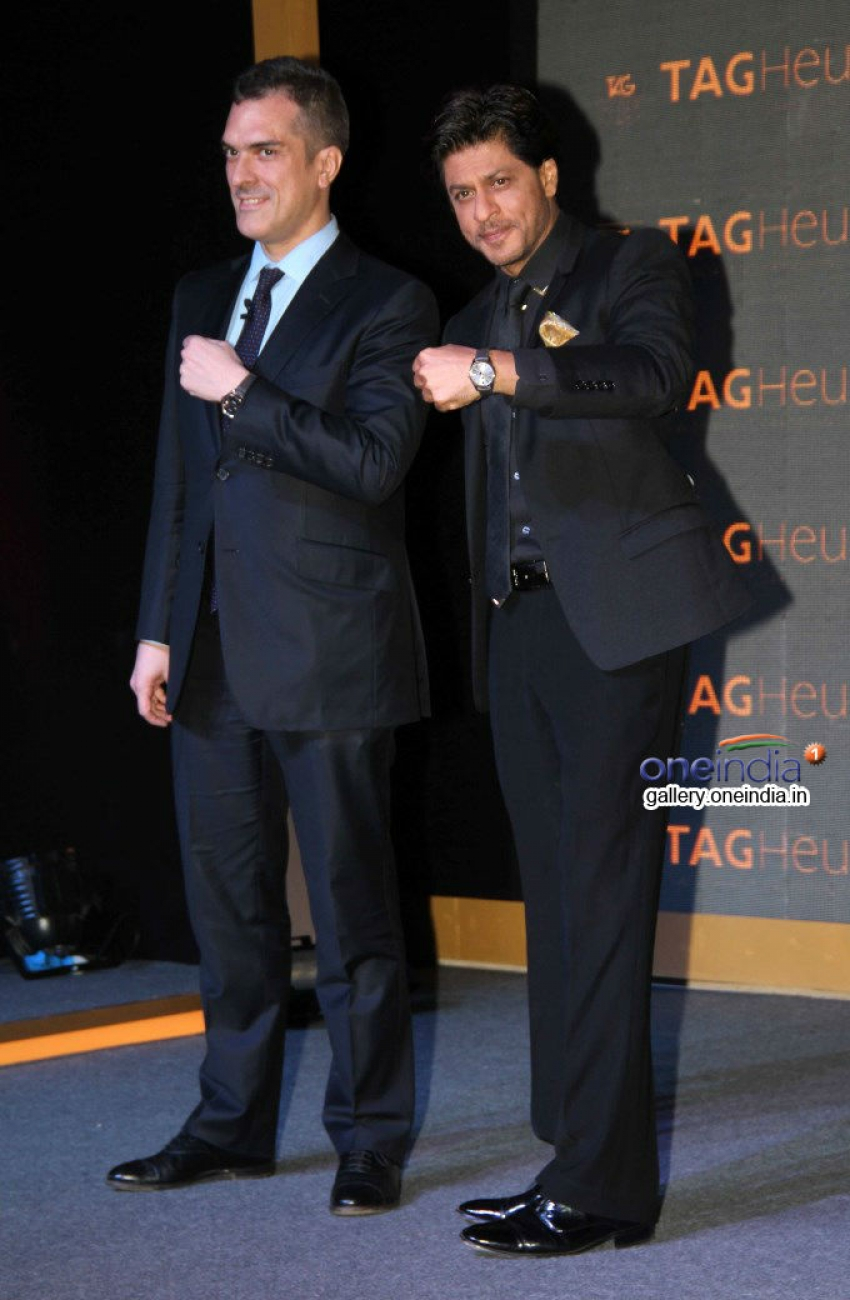 Shahrukh Khan unveils Tag Heuer's Golden Carrera watch collection Photos