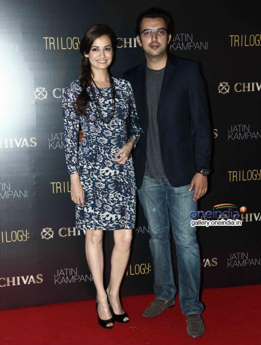 Lara Dutta and Dia Mirza at Chivas Bash 2014 Photos
