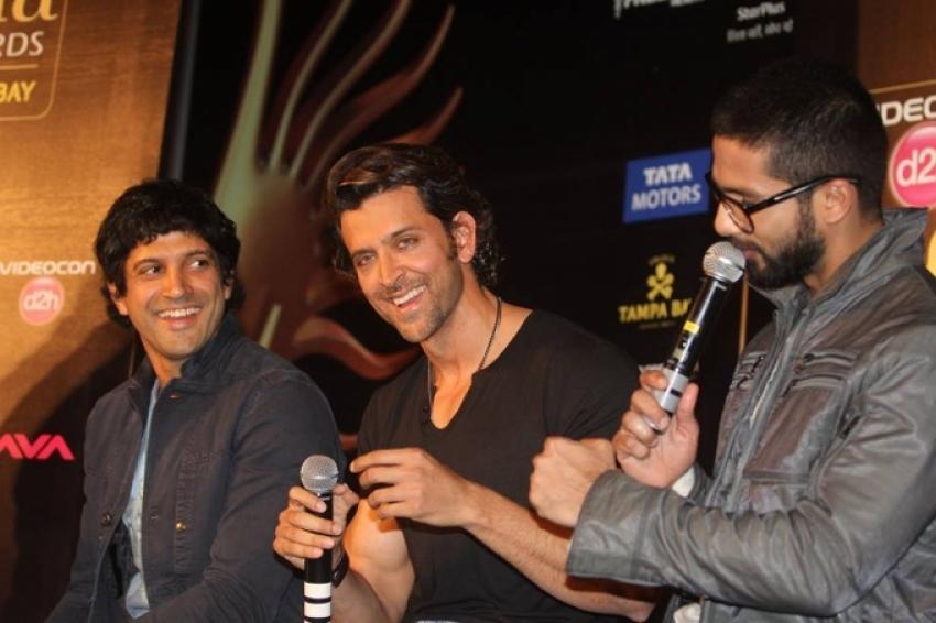 Shahid, Hrithik and Farhan at IIFA 2014 Press Conference Photos