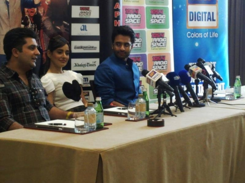 Jackky Bhagnani and Neha Sharma promote Youngistaan in Dubai Photos