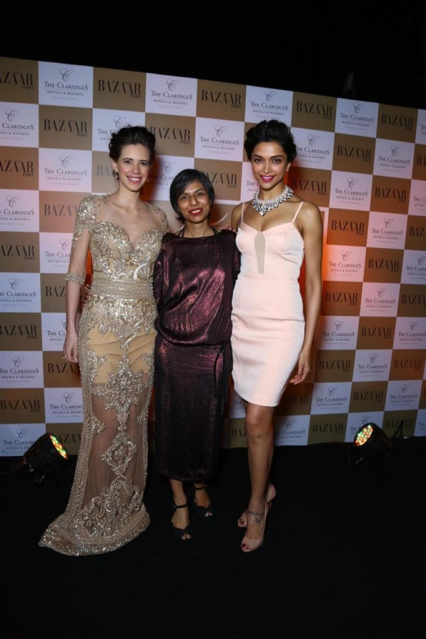Deepika Padukone unveils Harper's Bazaar India March 2014 cover Photos