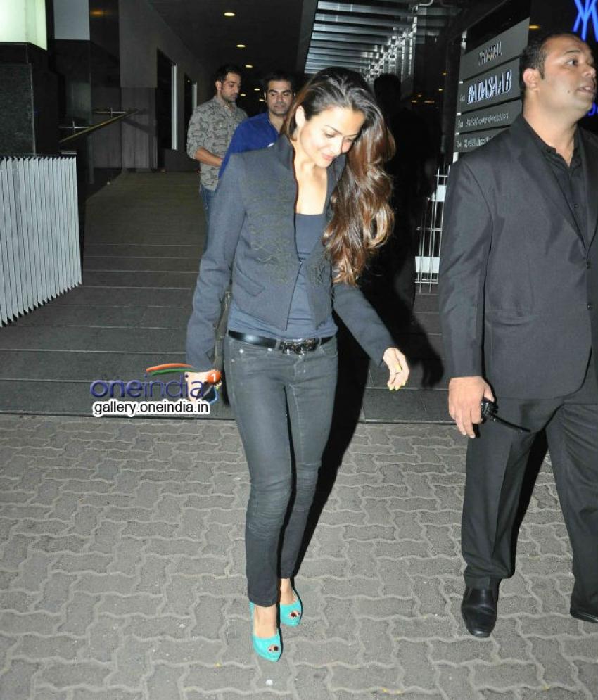 Malaika Arora and Arbaaz Khan snapped at Hakkasan Mumbai Photos