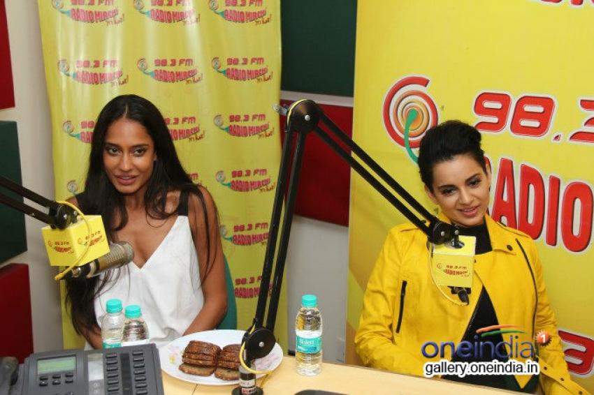 Kangna Ranaut and Lisa Haydon at Radio Mirchi Mumbai Photos