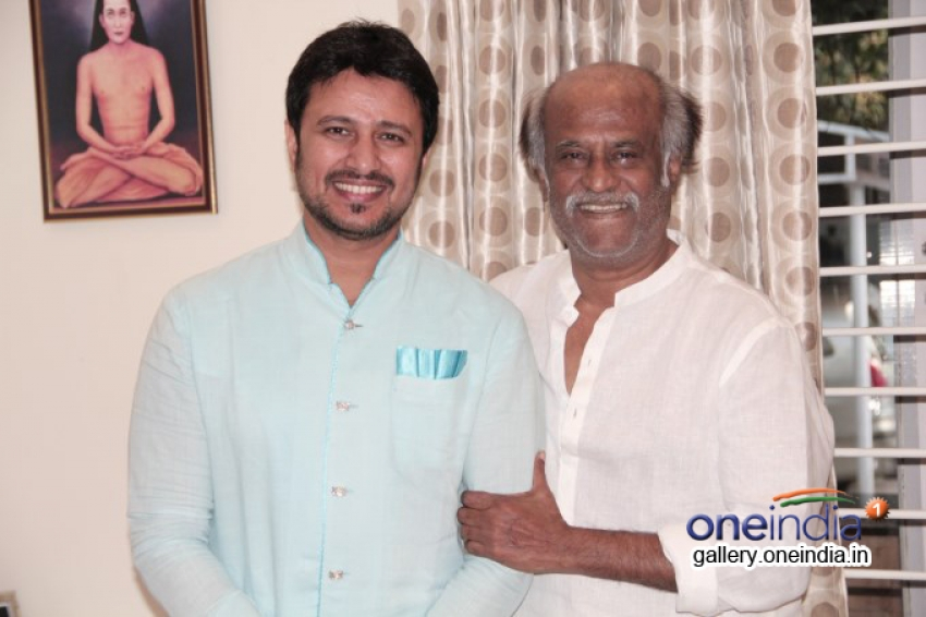 Rajinikanth blesses Telugu actor Raja Photos