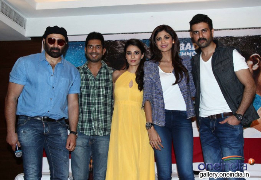Harman, Shilpa and Sunny Deol at Dishkiyaoon film press conference Photos