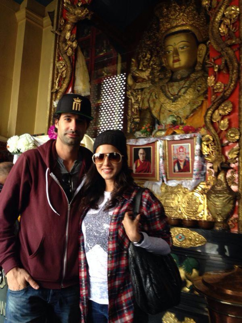 Sunny Leone with hubby Daniel Weber visits Nepal Photos