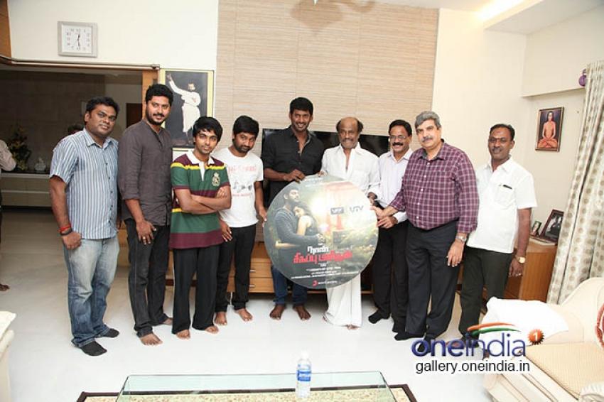 Superstar Rajnikanth Launches Naan Sigappu Manithan Audio Release Photos