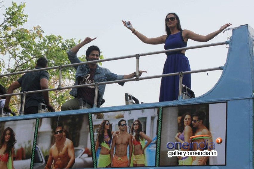 Varun Dhawan and Nargis Fakhri promote Main Tera Hero Photos