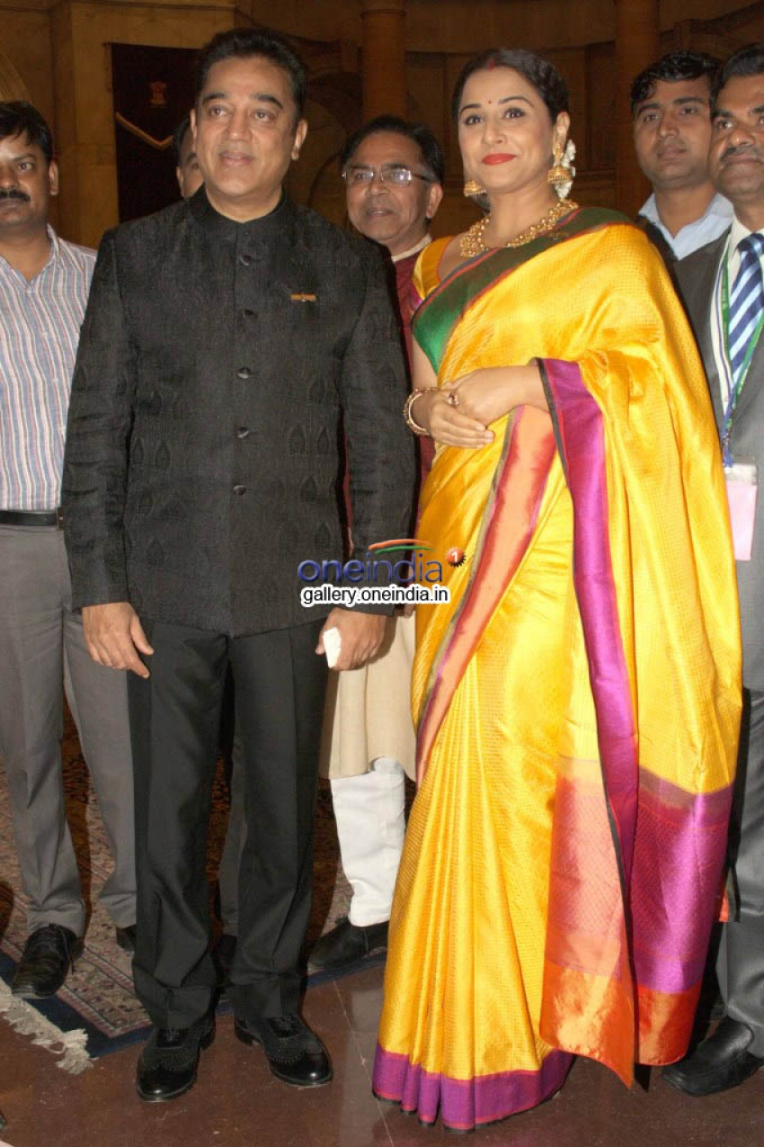 Vidya Balan & Kamal Hassan Gets Padmashree Award Photos