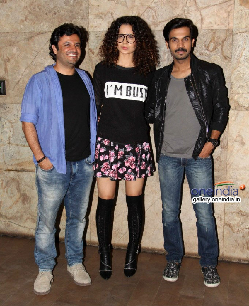 Kangna Ranaut and Sonakshi Sinha at Queen film screening Photos