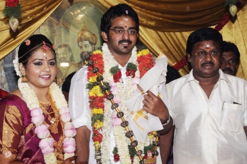 Actor Ramarajan and Nalini Son Wedding Stills Photos