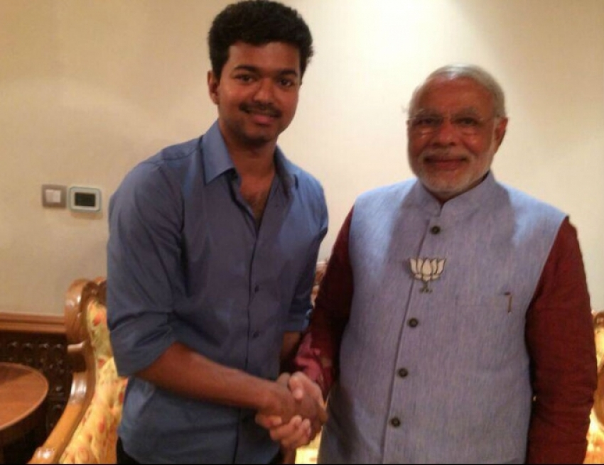 Actor Vijay meets Narendra Modi Photos