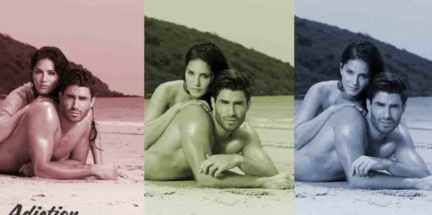 Adiction on the beach with Sunny Leone Photos
