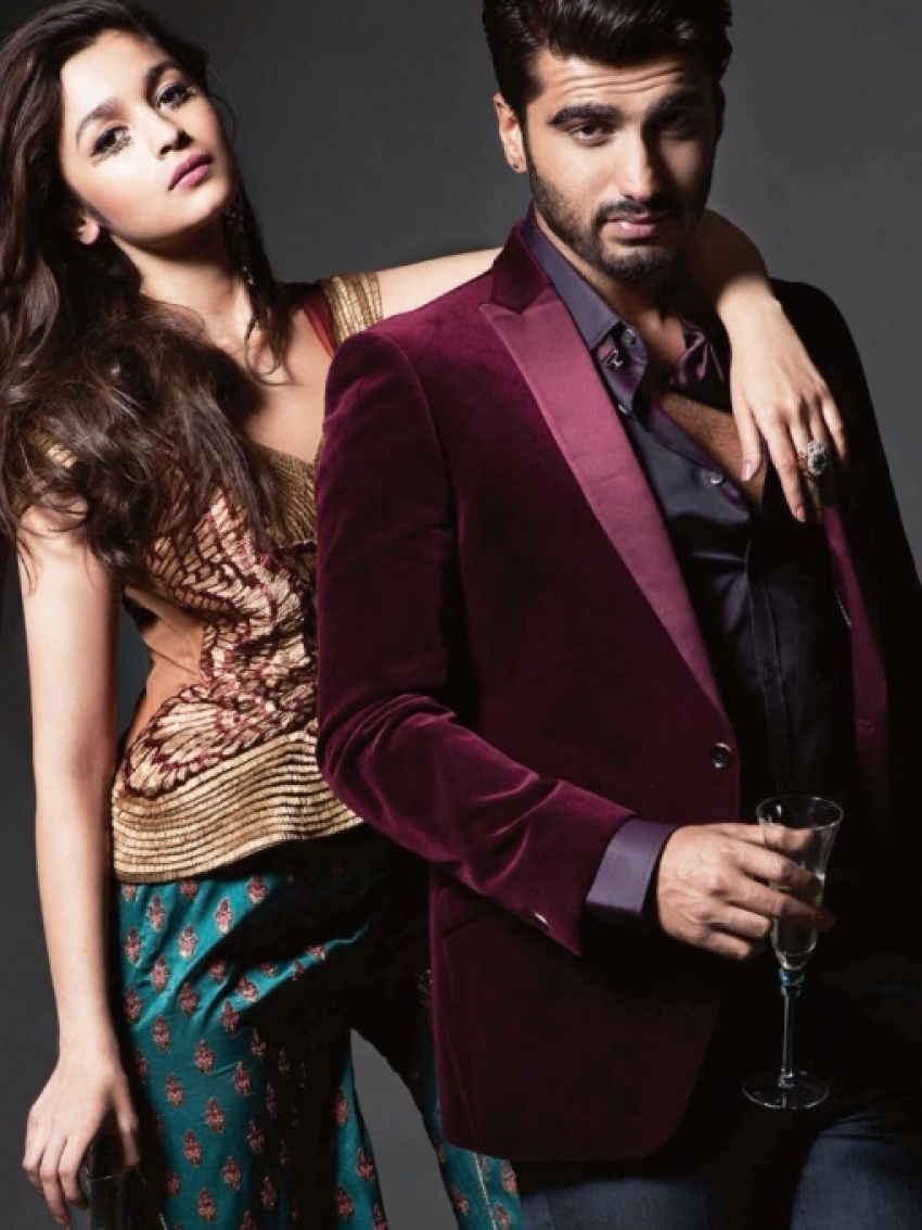 Alia Bhatt & Arjun Kapoor on Harper's Bazaar Bride April 2014 Photos