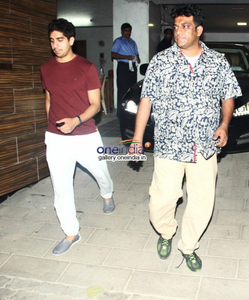 Ranbir Kapoor, Anurag Basu & Ayan Mukerji spotted at Aamir Khan's house Photos
