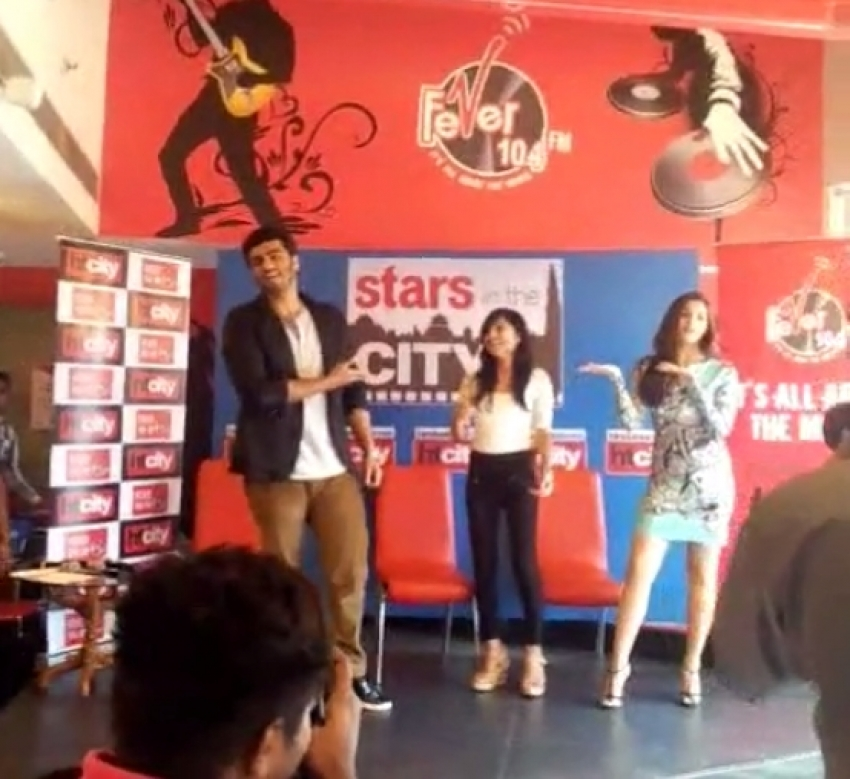 Arjun Kapoor and Alia Bhatt promote 2 States at HT Entertainment Photos