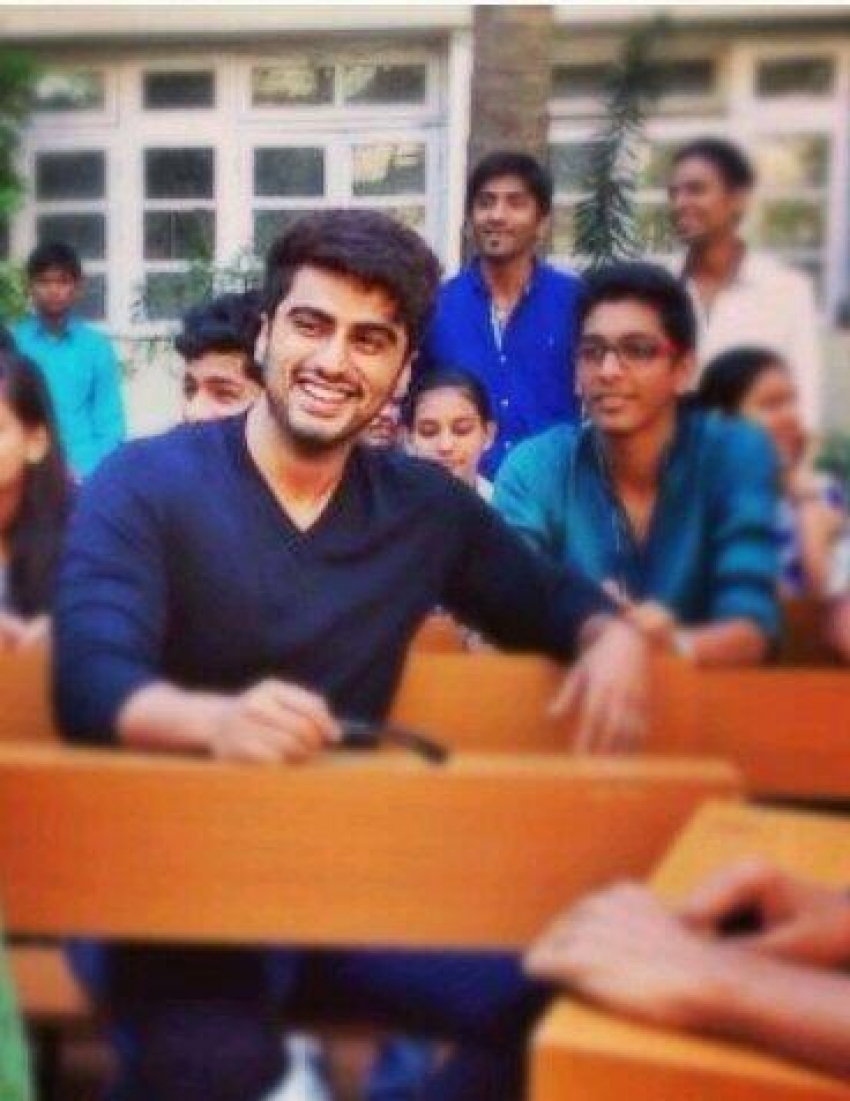 Arjun Kapoor and Alia Bhatt at L S Raheja College Photos