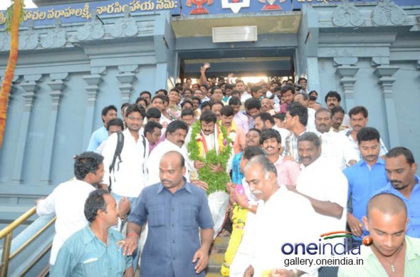 Balakrishna at Simhardi Apanna Temple Photos